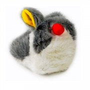 Beeztees Игрушка для кошек Кролик вибрирующий, плюш, 10x8см