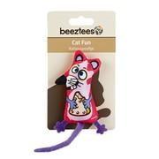Beeztees Игрушка для кошек Мышонок с сыром текстиль, 19см