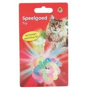 Beeztees Игрушка для кошек Мячик светящийся, латекс, 6см