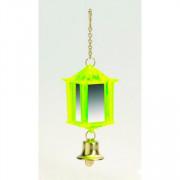 Beeztees Игрушка для птиц Фонарик зеркальный с колокольчиком, пластик, 10x3.5см