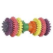 Beeztees Игрушка для собак Гантель шипованная с запахом мяты для ухода за зубами, резина, 14x6см