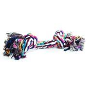 Beeztees Игрушка для собак Канат с 2-мя узлами разноцветный