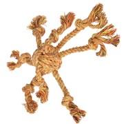 Beeztees Игрушка для собак Клубок веревочный с канатиками, оранж, 32см