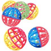Beeztees Набор игрушек для кошек Мяч-погремушка сетчатый, пластиковый, 4см, 6шт