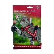 Beeztees Шлейка для кошек нейлоновая с сердечками, 120см х10мм