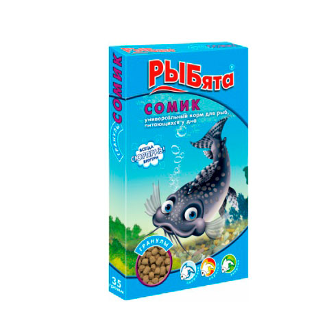 ЗООМИР РЫБята гранулы, корм для рыб, питающихся у дна, коробка
