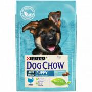 Dog Chow сухой корм для щенков крупных пород, индейка
