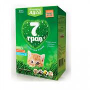 Травка для кошек альпийские луга, 7 трав, лоток