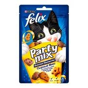 Felix Party Mix Сырный: чеддер гауда эдам лакомство для кошек