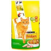 Friskies Adult сухой корм для Кошек Кролик с Полезными Овощами