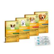 BAYER Advocate (адвокат) капли для собак от блох и глистов, 3 пипетки