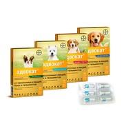 BAYER Advocate (адвокат) капли от блох, клещей, гельментов для собак, 3 пипетки, до 4кг.