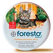 BAYER Foresto Форесто ошейник для кошек от клещей, блох и вшей, защита до 8 месяцев