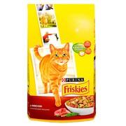 Friskies Adult сухой корм для Кошек Мясо с Полезными Овощами