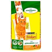 Friskies Indoor сухой корм для домашних Кошек Курица и Садовая Зелень