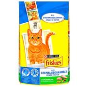 Friskies Sterilised сухой корм для Стерилизованных кошек Кролик с Овощами