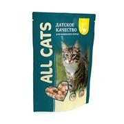 ALL CATS пауч для кошек курица в соусе
