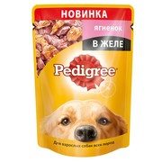 Pedigree пауч для взрослых собак, ягненок в желе