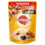 Pedigree пауч для взрослых собак, телятина в желе