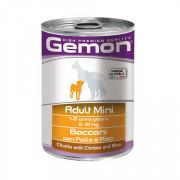Gemon Dog Mini консервы для собак мелких пород кусочки курицы с рисом