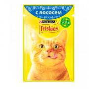 Friskies корм консервированный для кошек лосось в подливке