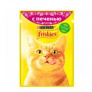 Friskies корм консервированный для кошек печень в подливке