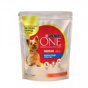 Purina One Мини Взрослая корм сухой для собак мелких пород говядина рис