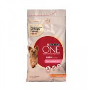 Purina One Мини Здоровый вес корм сухой для собак мелких пород индейка рис