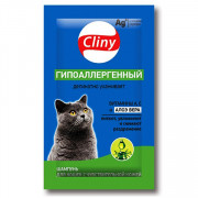 Cliny шампунь саше гипоаллергенный для кошек 10 мл
