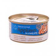 APPLAWS консервы для кошек с сардинками и креветками в желе