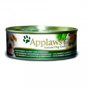 APPLAWS Dog Chicken Beef Liver and Veg консервы для собак с курицей говядиной печенью и овощами