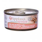 APPLAWS Senior Cat Tuna with Salmon in jelly консервы для пожилых кошек с тунцом и лососем