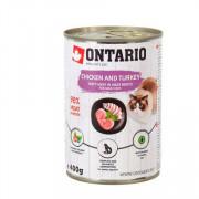 ONTARIO консервы для кошек курица и кндейка