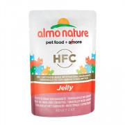 ALMO NATURE CLASSIC консервы для кошек тунец и креветки в желе
