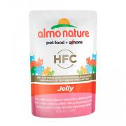ALMO NATURE CLASSIC консервы для кошек тунец, курица и ветчина в желе