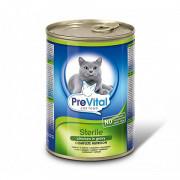 Prevital корм консервированный для стерилизованных кошек с птицей в соусе