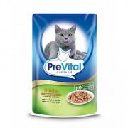 Prevital Classic корм консервированный для стерилизованных кошек с печенью в соусе