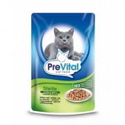 Prevital Classic корм консервированный для стерилизованных кошек с птицей в соусе