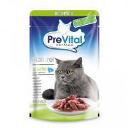 Prevital Superpremium Naturel корм консервированный для стерилизованных кошек с лососем в соусе