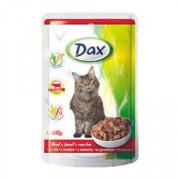 Dax Cat корм консервированный для взрослых кошек с говядиной в соусе