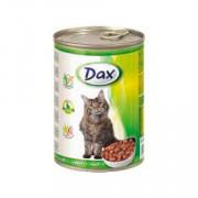 Dax Cat корм консервированный для взрослых кошек с кроликом в соусе