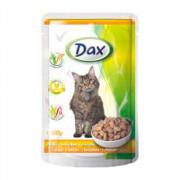Dax Cat корм консервированный для взрослых кошек с курицей в соусе