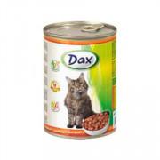 Dax Cat корм консервированный для взрослых кошек с птицей в соусе