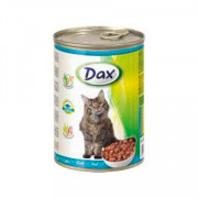 Dax Cat корм консервированный для взрослых кошек с рыбой в соусе