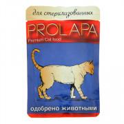Prolapa Premium корм консервированный для стерилизованных кошек птица в соусе