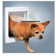 TRIXIE дверца для кошек и собак 2 функции пластик белый