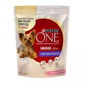 Purina One Мини Чувствительная корм сухой для собак мелких пород с лососеми рисом