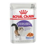 Royal Canin Sterilised влажный корм для стерилизованных кошек, пауч (кусочки в желе)