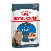 Royal Canin Ultra Light влажный корм для кошек, пауч (кусочки в желе)